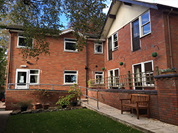 Picture of the rear of Alder Grange Care Home